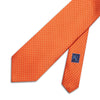 Orange Printed Silk Tie with White Pin Spots