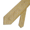 Yellow Twill with White Spots Woven Silk Tie