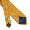 Gold Twill with White Spots Woven Silk Tie