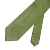 Light Green Herringbone Woven Silk Tie