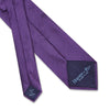 Dark Purple Herringbone Woven Silk Tie