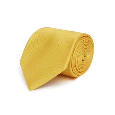 Plain Gold Printed Silk Tie