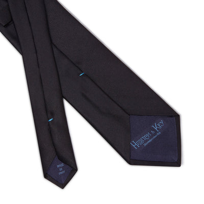 Plain Black Printed Silk Tie