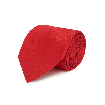 Plain Red Printed Silk Tie