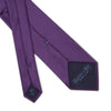 Plain Purple Printed Silk Tie