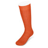 Long Plain Orange Cotton Socks