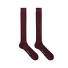 Long Plain Dark Red Cotton Socks
