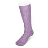 Long Plain Lilac Cotton Socks