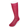 Long Plain Cerise Cotton Socks
