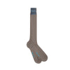Long Plain Grey Cotton Socks