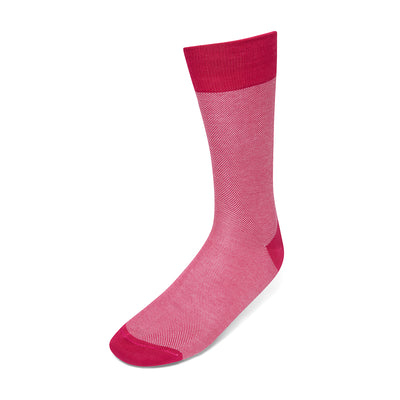 Short Cerise & White Pin Dot Cotton Socks