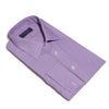 Classic Fit, Classic Collar, Double Cuff Shirt In Purple & White POW Check Twill