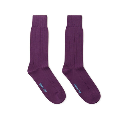 Short Purple Heavy Sports Wool Socks
