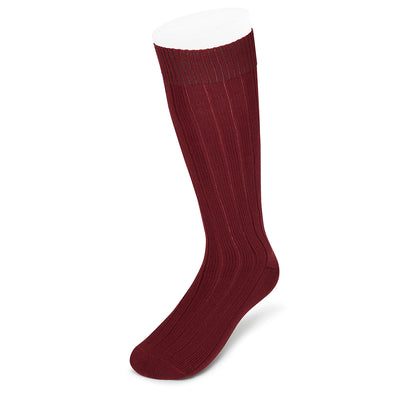 Long Deep Red Heavy Sports Wool Socks