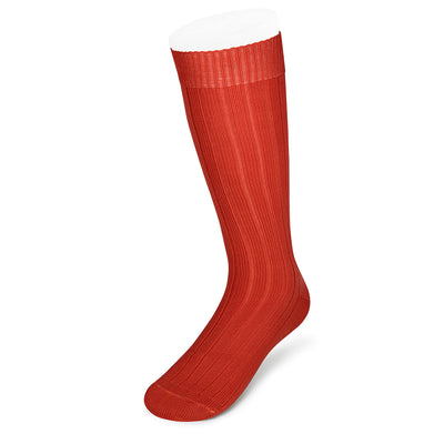 Long Burnt Orange Heavy Sports Wool Socks