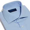 Contemporary Fit, Cut-away Collar, 2 Button Cuff Shirt in a Plain Sky Blue Poplin Cotton