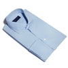 Classic Fit, Cut-away Collar, Double Cuff Shirt in a Plain Sky Blue Poplin Cotton
