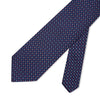 Navy with Pink & White Spots Printed Silk Tie