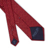 Red with Burgundy & Blue Squares Printed Silk Tie
