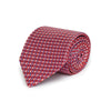Red with Wine, Blue & White Spots Printed Silk Tie