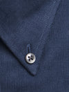 Contemporary Fit, Button Down Collar, 2 Button Cuff Shirt in a Blue Cotton Corduroy