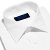 Contemporary Fit, Classic Collar, 2 Button Cuff Shirt in a Plain White Poplin Cotton