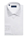 Contemporary Fit, Classic Collar, 2 Button Cuff Shirt in a Plain White Sea Island Quality Poplin Cotton