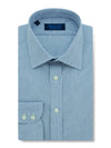 Contemporary Fit, Classic Collar, 2 Button Cuff Shirt in a Navy & White Check Poplin Cotton