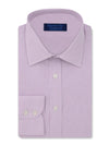 Contemporary Fit, Classic Collar, 2 Button Cuff Shirt in a Lilac & White Stripe Poplin Cotton