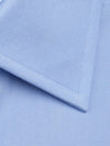 Contemporary Fit, Classic Collar, Double Cuff Shirt in a Plain Sky Blue Poplin Cotton