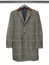 Brown & Black Large Checked Woollen Coat