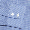 Navy Houndstooth Cotton Contemporary Fit, Cut-away Collar, 2 Button Cuff Shirt