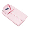 Pink Houndstooth Cotton Contemporary Fit, Cut-away Collar, 2 Button Cuff Shirt