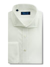 Contemporary Fit, Cut-away Collar, Double Cuff Shirt in a Plain White Poplin Cotton