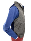 Light Grey Quilted Gilet With Navy Knitted Back