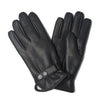 Black Leather Gloves with Sheepskin Lining