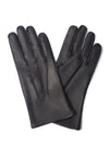 Black Leather Gloves with Cashmere Lining