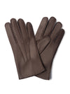 Brown Leather Gloves with Cashmere Lining