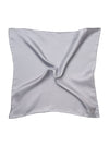 Grey Silk Handkerchief with White Spots