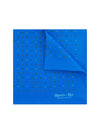 Blue Silk Handkerchief with Gold & Red Stars