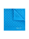 Light Blue Silk Handkerchief with Blue & Red Stars