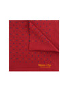 Red Silk Handkerchief with Blue, Green & Gold Stars
