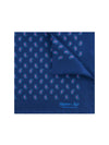 Navy Silk Handkerchief with Purple & Blue Paisley