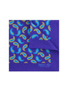 Purple Silk Handkerchief with Orange & Blue Paisley