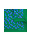 Green Silk Handkerchief with Lilac & Blue Paisley