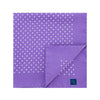 Lilac Silk Handkerchief with White Medium Spots