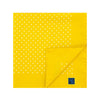 Yellow Silk Handkerchief with White Medium Spots