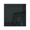 Black Silk Handkerchief with White Medium Spots