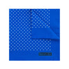 Royal Blue Silk Handkerchief with White Medium Spots