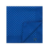 Navy Silk Handkerchief with Blue Medium Spots